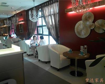 郑州融合曼玉餐厅卡座沙发装修效果图