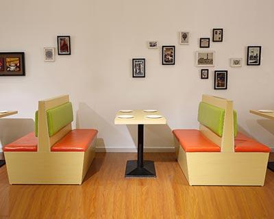 中式快餐卡座桌椅_型号SB001