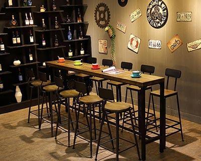实木酒吧桌椅_型号BR001
