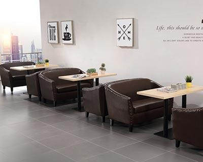 高档西餐厅桌椅_型号WR003