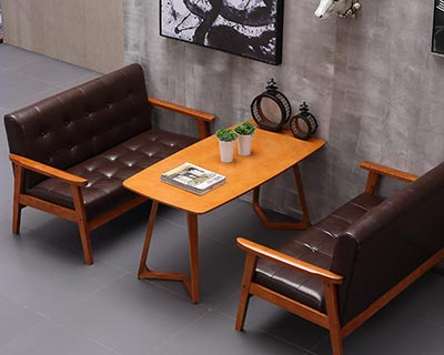 快餐厅实木桌椅_型号SB002