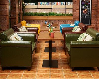 快餐店卡座沙发_型号CT002