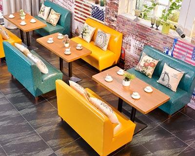 高档西餐厅沙发_型号CT004