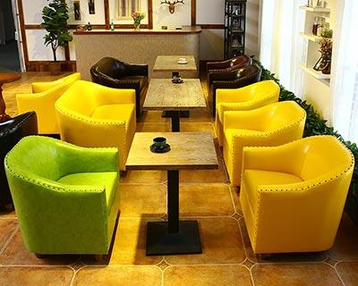皮艺西餐厅沙发_型号CT005