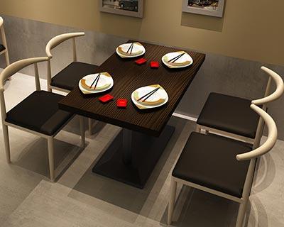 高档快餐桌椅_型号SB003