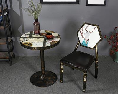 新款西餐厅桌椅_型号WR004