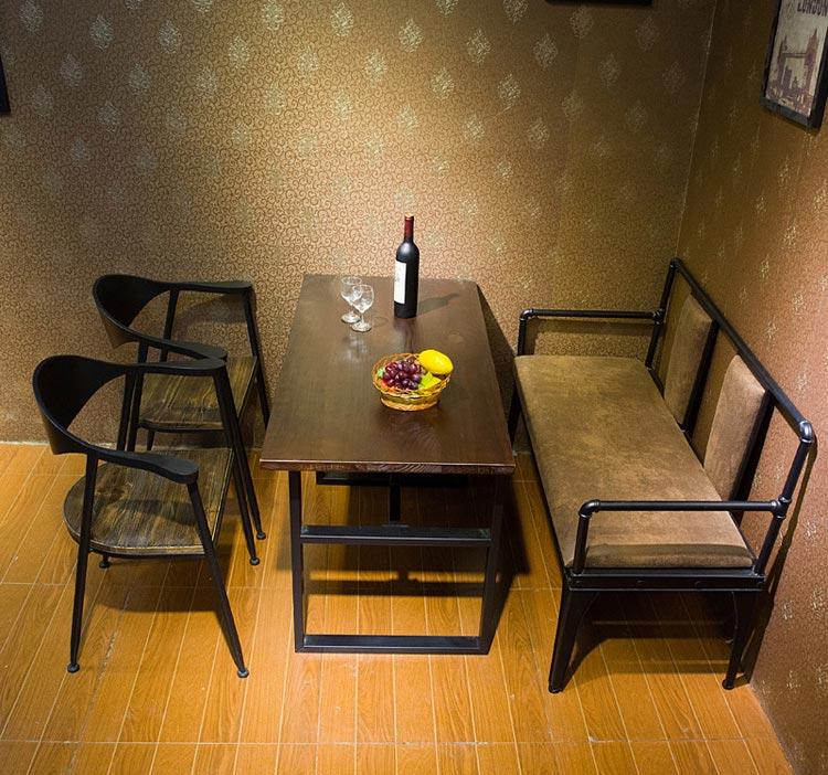 梦达钢木快餐桌椅装修效果图