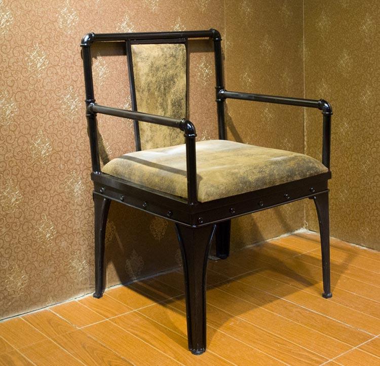 梦达钢木快餐椅(单人)实拍图片