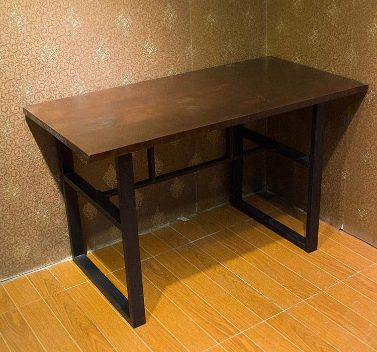 梦达钢木快餐桌实拍图片