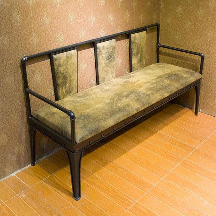 梦达钢木快餐椅(三人)实拍图片