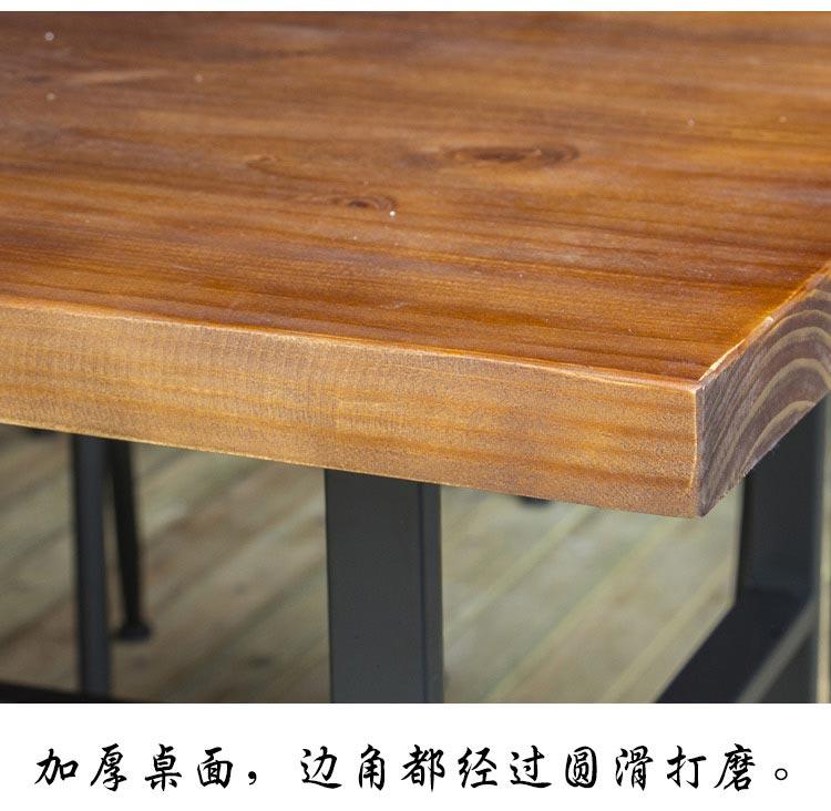 梦达钢木快餐桌加厚桌面特写
