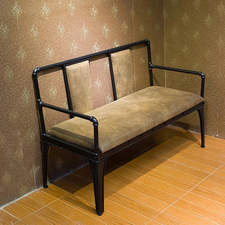 梦达钢木快餐椅(双人)实拍图片