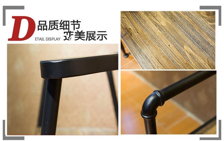 梦达钢木快餐桌椅细节图片