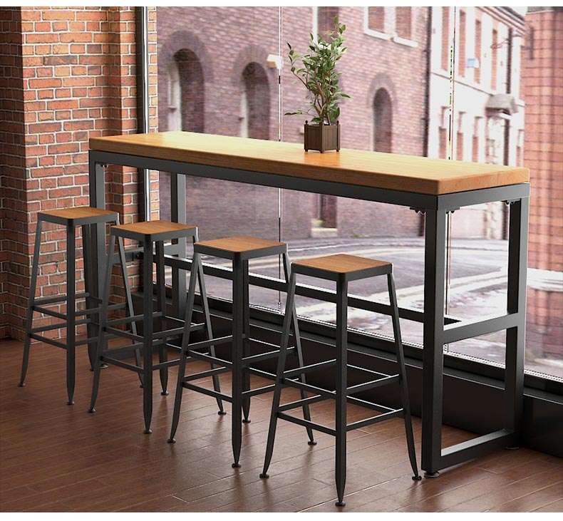 梦达酒吧高脚桌椅装修效果图