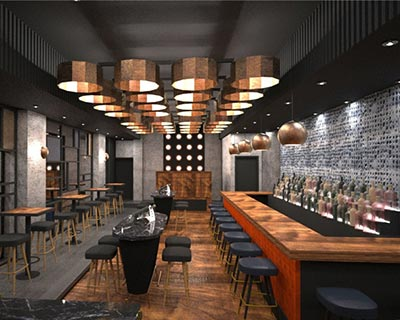 Gaspar酒吧桌椅装修效果图