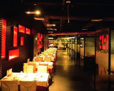 湘西情餐厅快餐桌椅装修效果图