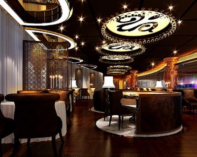 石全石美餐厅西餐桌椅装修效果图