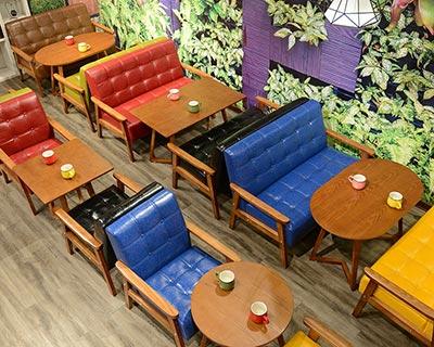 西餐厅卡座桌椅_型号WR006