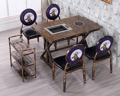 火锅店专用桌椅_型号HP003