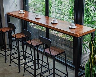 木酒吧桌椅_型号BR007