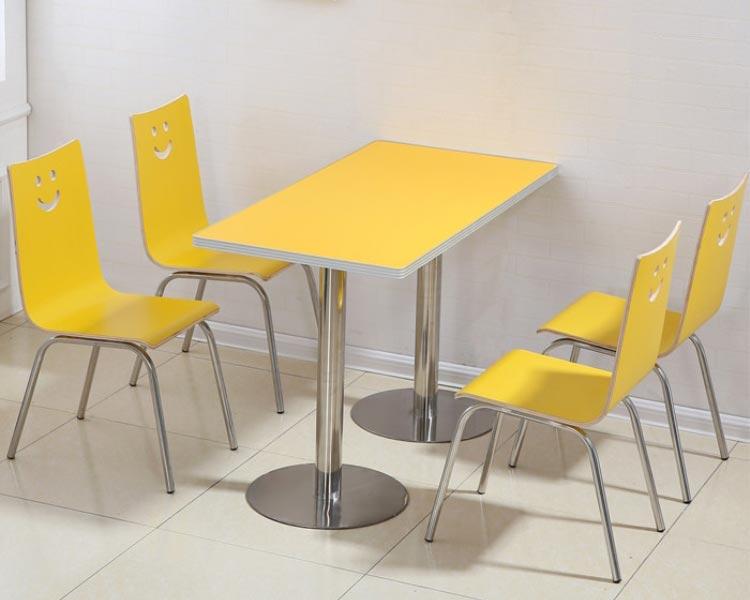 黄色肯德基快餐桌椅装修效果图