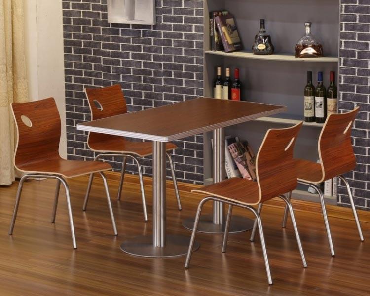 柚木色肯德基快餐桌椅装修效果图