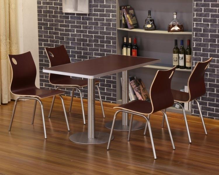 深棕色肯德基快餐桌椅装修效果图