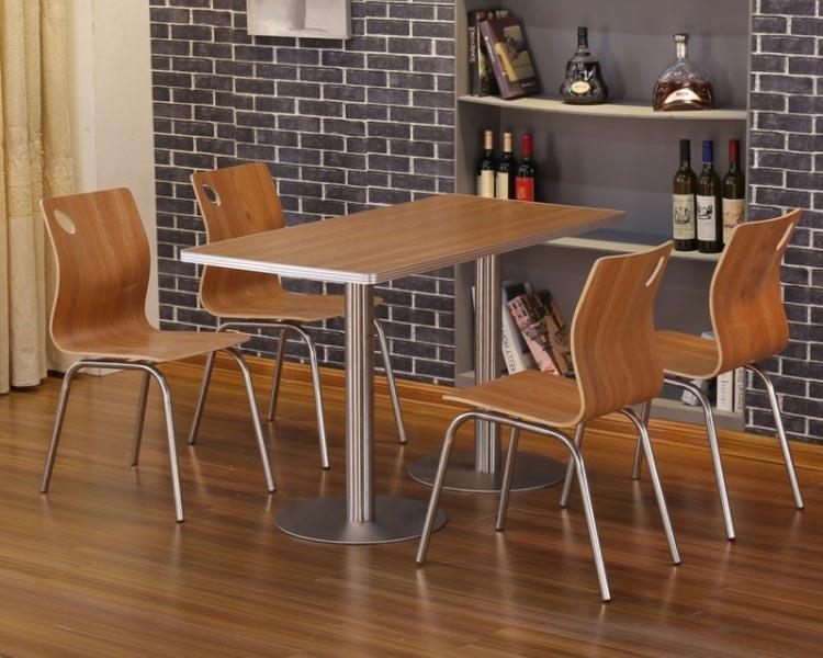橡木色肯德基快餐桌椅装修效果图