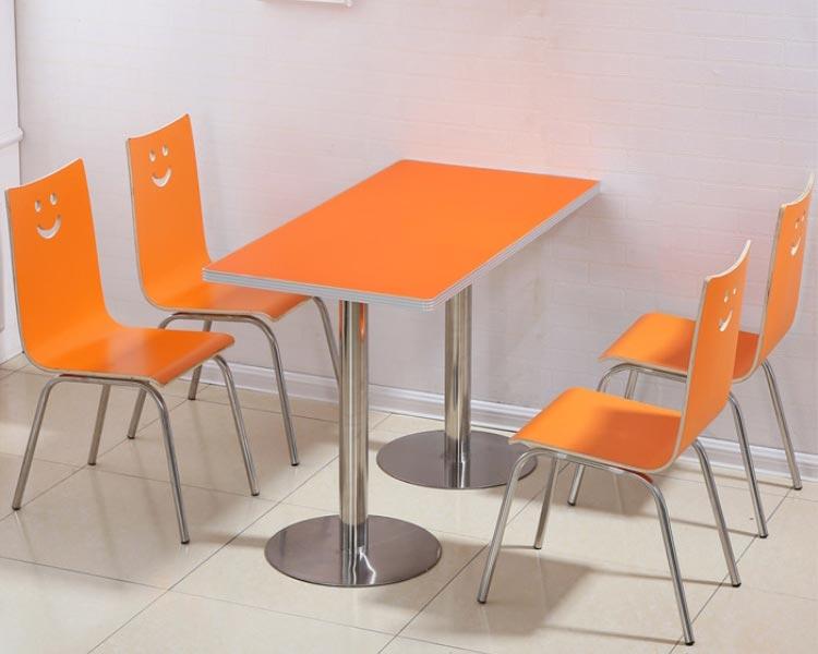 橘色肯德基快餐桌椅装修效果图