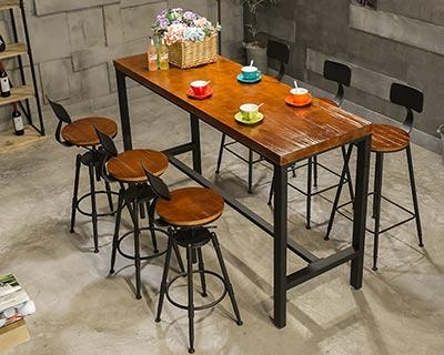 复古酒吧桌椅_型号BR010
