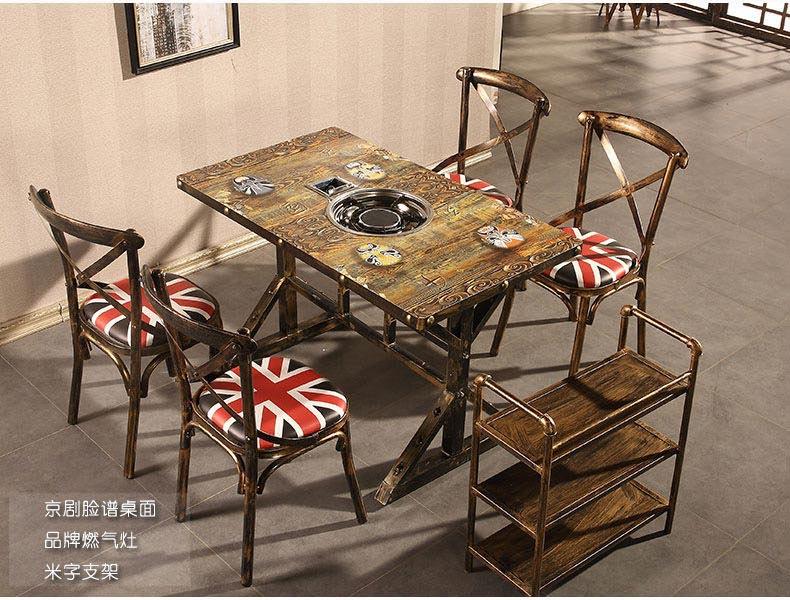 京剧脸谱桌面电磁炉火锅桌椅图片