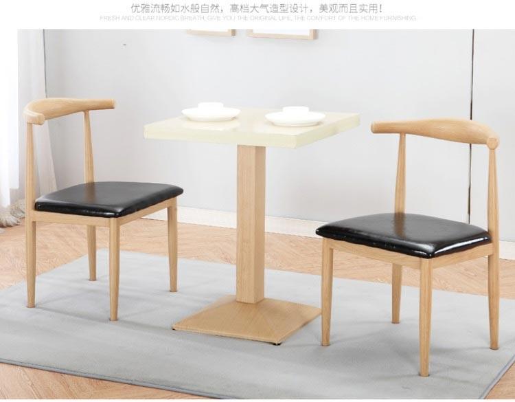 原木色新款快餐桌椅图片
