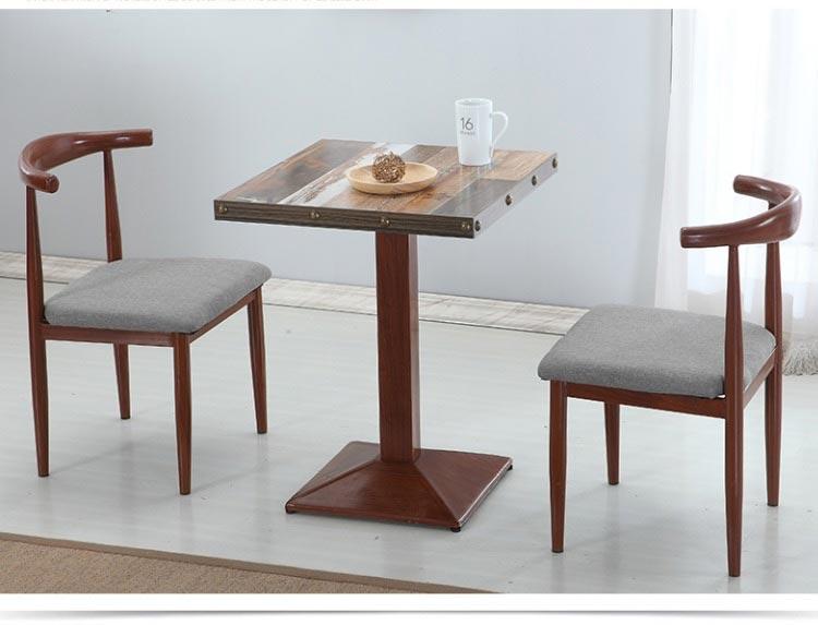 深咖色新款快餐桌椅图片