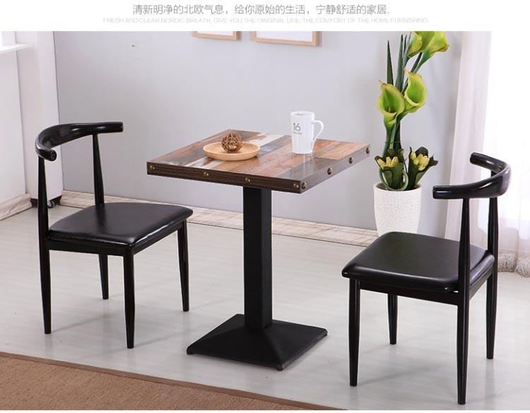 黑色新款快餐桌椅图片