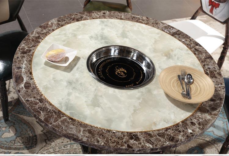 火锅餐厅桌椅大理石桌面图片