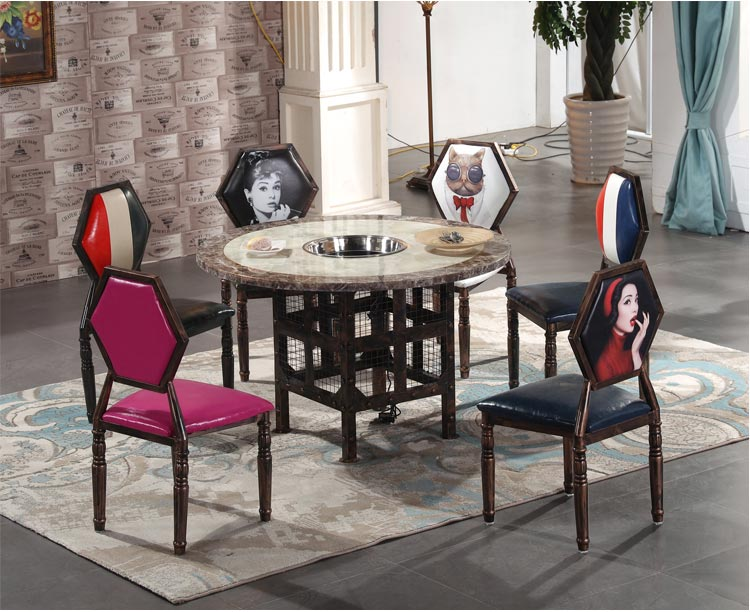 火锅餐厅桌椅装修效果图