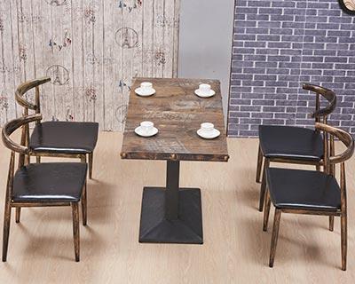 西餐厅餐桌椅_型号WR008