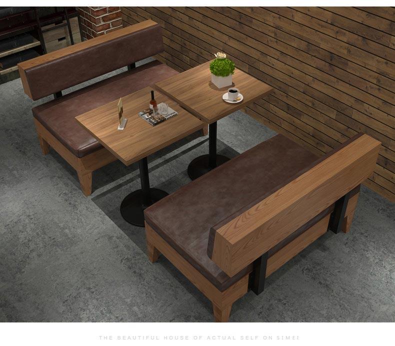 快餐厅卡座沙发装修效果图