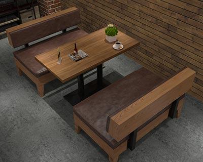 快餐厅卡座沙发_型号CT027