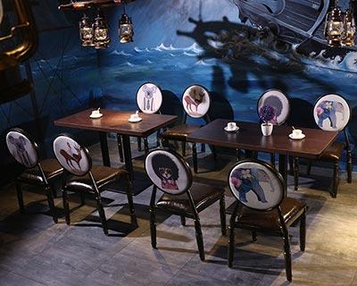 西餐厅桌子椅子_型号WR009