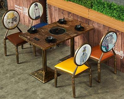 火锅餐桌椅_型号HP010