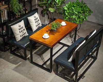 卡座餐桌椅_型号WR010