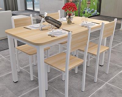 四人位快餐桌椅_型号SB010