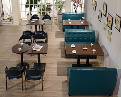 实木西餐厅卡座沙发_型号CT024