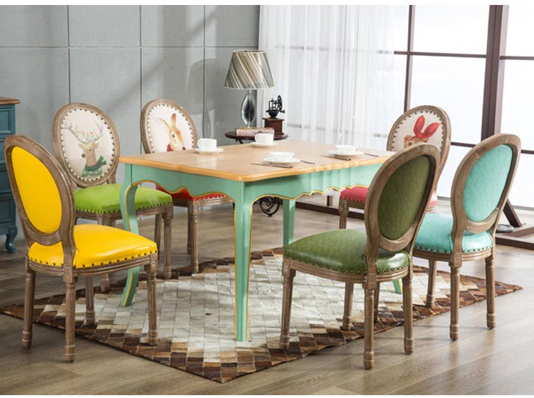 橡木西餐桌椅装修效果图