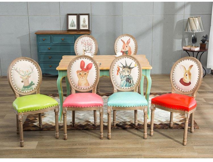 橡木西餐椅子款式