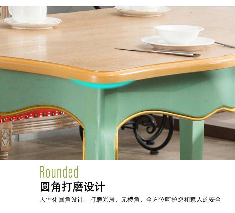 橡木西餐桌圆角打磨工艺