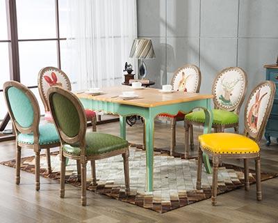橡木西餐桌椅_型号WR014