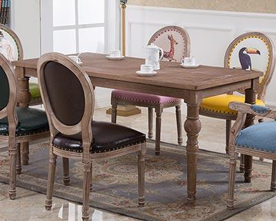 复古西餐桌椅_型号WR015