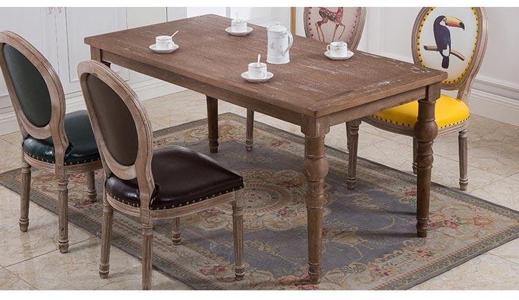 复古西餐桌椅装修效果图